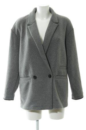 Zara Trafaluc Oversized Mantel grau schlichter Stil