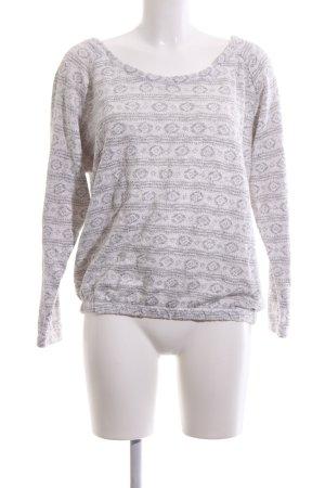 Zara Trafaluc Oversized Sweater white-light grey allover print casual look