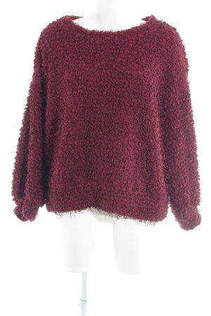 Zara Trafaluc Oversized Pullover bordeauxrot Casual-Look