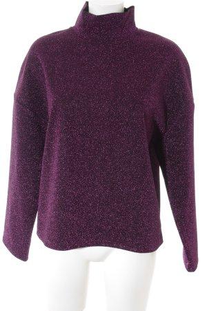 Zara Trafaluc Oversized Pullover Galaxymuster Glitzer-Optik