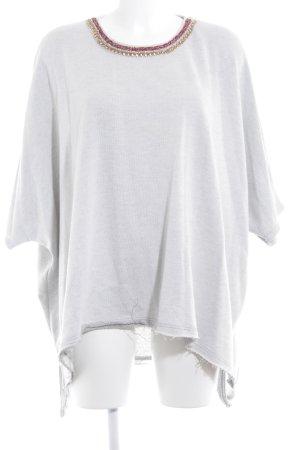 Zara Trafaluc Oversized Pullover hellgrau Street-Fashion-Look