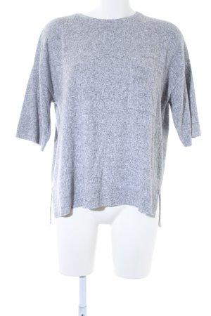 Zara Trafaluc Oversized Shirt hellgrau meliert Casual-Look