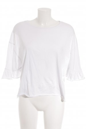 Zara Trafaluc Oversized Shirt weiß Romantik-Look