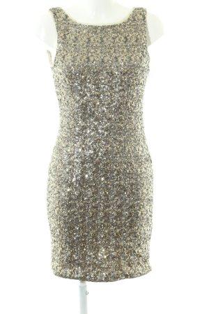 Zara Trafaluc Sequin Dress khaki elegant