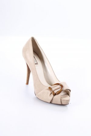 Zara Trafaluc Peeptoe Pumps beige Party-Look