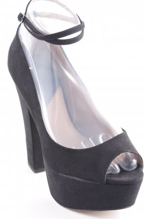 Zara Trafaluc Peeptoe Pumps schwarz Elegant