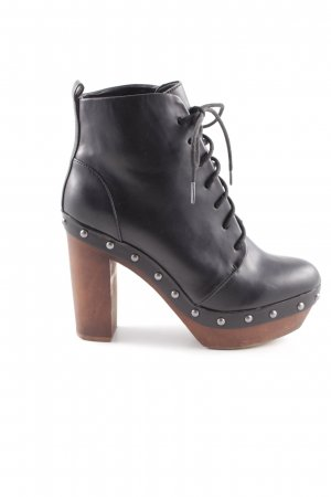 Zara Trafaluc Patucos con plataforma negro-marrón estilo extravagante