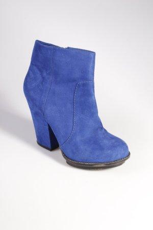 Zara Trafaluc Plateaustiefeletten blau