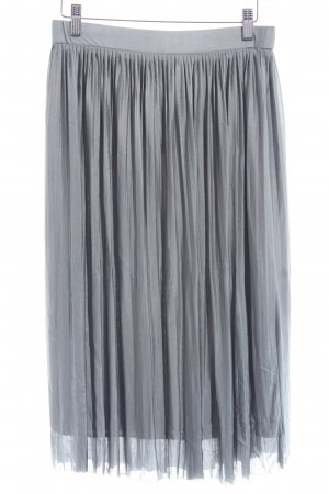 Zara Trafaluc Pleated Skirt pale blue casual look
