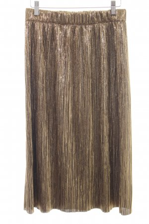 Zara Trafaluc Pleated Skirt gold-colored extravagant style