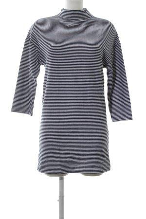 Zara Trafaluc Sweater Dress black-white striped pattern casual look