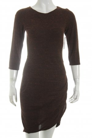 Zara Trafaluc Sweater Dress bordeaux flecked casual look