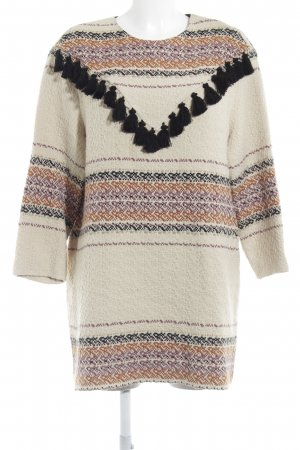 Zara Trafaluc Sweater Dress weave pattern casual look