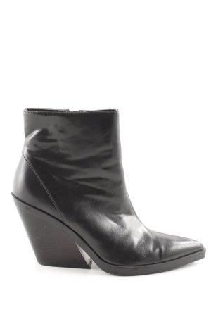 Zara Trafaluc Reißverschluss-Stiefeletten schwarz extravaganter Stil