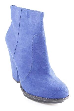 Zara Trafaluc Reißverschluss-Stiefeletten blau Elegant