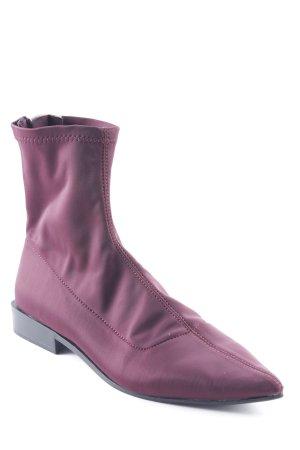 Zara Trafaluc Botas con cremallera púrpura estilo extravagante bd41f4ca9c5