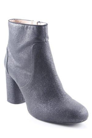 Zara Trafaluc Botas con cremallera negro-color plata Apariencia metálica 43a310d2172