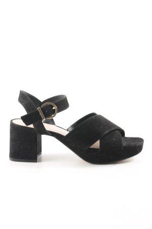 Zara Trafaluc Strapped pumps black-gold-colored elegant