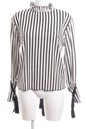 Zara Trafaluc Camisa acanalada negro-blanco puro estampado a rayas look casual