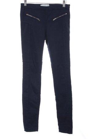 Zara Trafaluc Pantalone a sigaretta blu scuro stile casual
