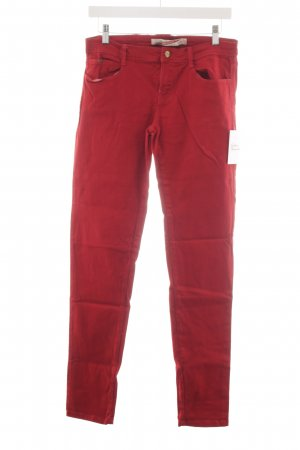 Zara Trafaluc Tube jeans donkerrood casual uitstraling