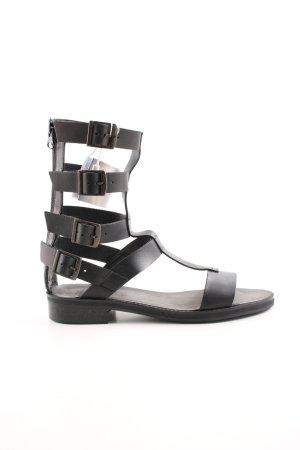 Zara Trafaluc Sandalias romanas negro look casual