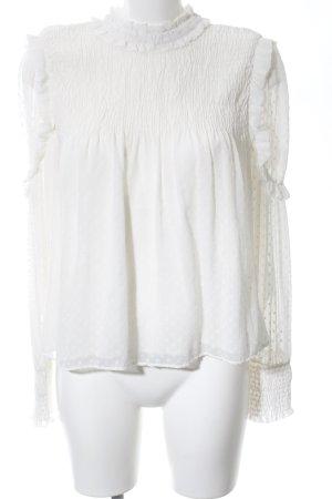 Zara Trafaluc Ruche blouse wit zakelijke stijl
