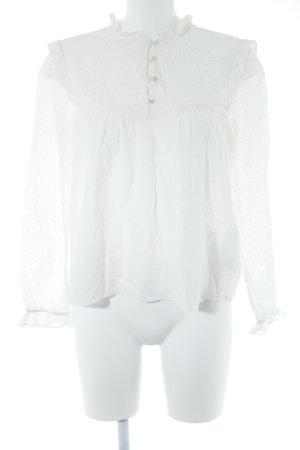 Zara Trafaluc Blouse à volants blanc cassé style romantique