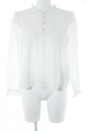 Zara Trafaluc Ruffled Blouse natural white romantic style