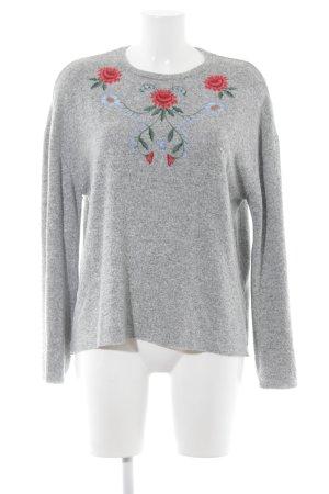 Zara Trafaluc Jersey de cuello redondo estampado floral look casual