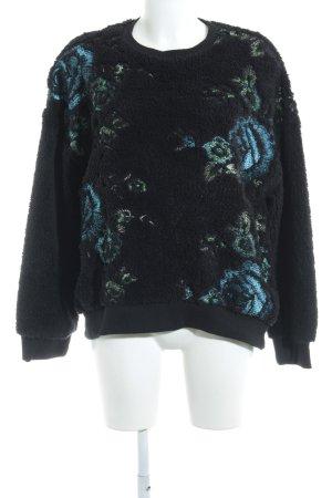 Zara Trafaluc Jersey de cuello redondo estampado floral mullido