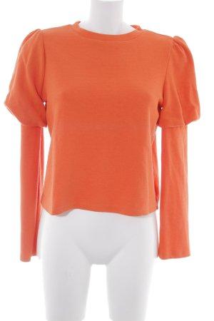 Zara Trafaluc Rundhalspullover orange schlichter Stil