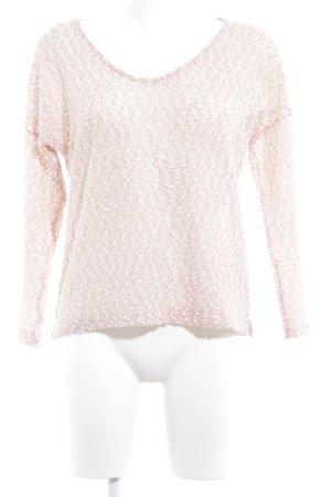 Zara Trafaluc Rundhalspullover rosé-weiß meliert Casual-Look