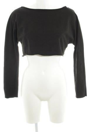 Zara Trafaluc Rundhalspullover schwarz schlichter Stil