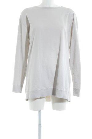 Zara Trafaluc Kraagloze sweater wolwit casual uitstraling