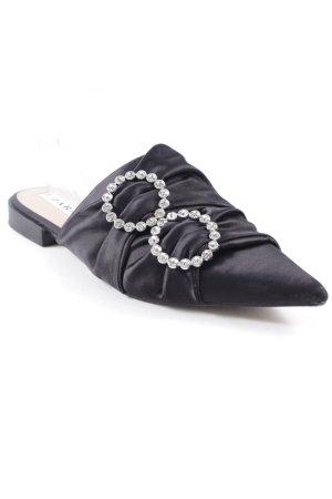 Zara Trafaluc Zuecos negro estilo extravagante