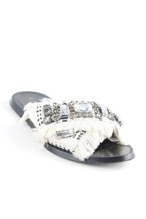 Zara Trafaluc Sabot blanc cassé-noir style extravagant