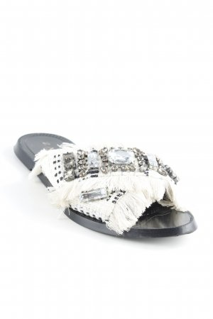 Zara Trafaluc Sabots natural white-black extravagant style