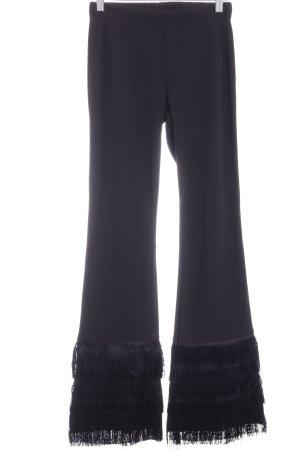 Zara Trafaluc Pantalón de campana negro estilo fiesta
