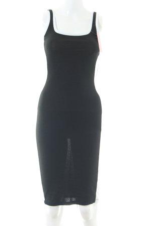 Zara Trafaluc Vestido de tubo negro estampado a rayas look casual