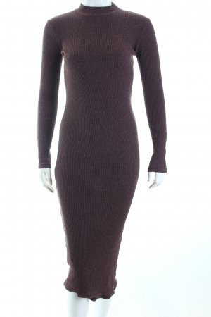 Zara Trafaluc Schlauchkleid braunrot Casual-Look