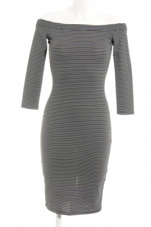 Zara Trafaluc Tube Dress black-white striped pattern casual look