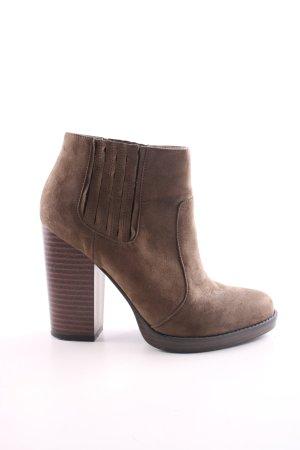 Zara Trafaluc Slip-on Booties bronze-colored casual look