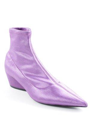 Zara Trafaluc Schlüpf-Stiefeletten lila Elegant