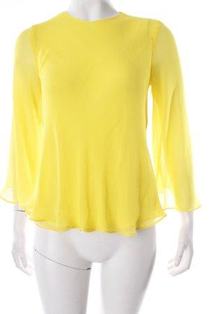 Zara Trafaluc Schlupf-Bluse gelb Transparenz-Optik