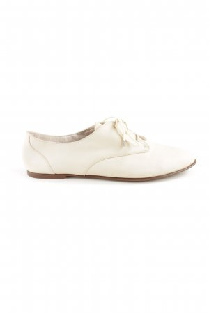 Zara Trafaluc Lace Shoes natural white business style