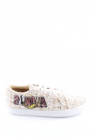 Zara Trafaluc Lace Shoes cream casual look
