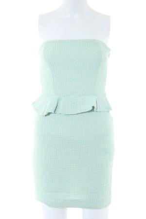 Zara Trafaluc Peplum Dress turquoise weave pattern elegant