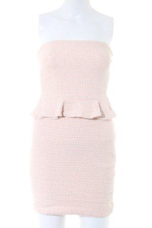 Zara Trafaluc Peplum Dress cream flecked casual look
