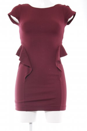 Zara Trafaluc Vestido peplum carmín estilo sencillo